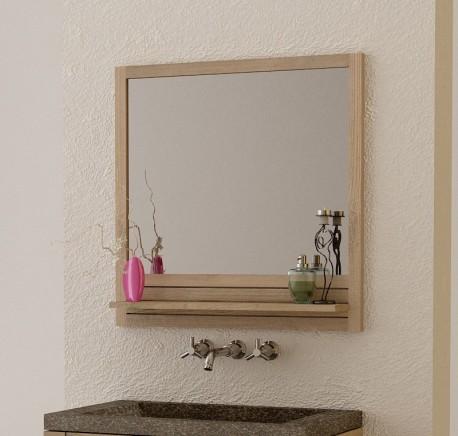Miroir salle de bain en teck latou mobilier de salle de for Mobilier de salle de bain en bois