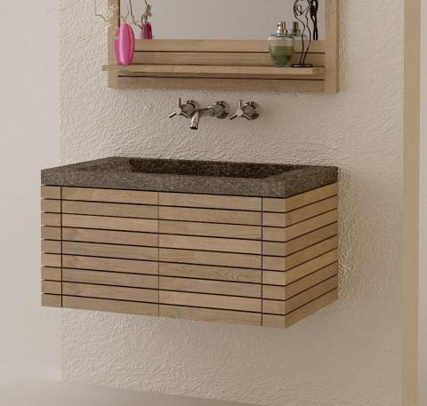 Meuble de salle de bain bois meuble de salle de bain - Meubles salle de bain cdiscount ...