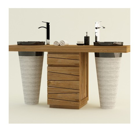 meuble de salle de bain bois meuble de salle de bain teck le comptoi. Black Bedroom Furniture Sets. Home Design Ideas