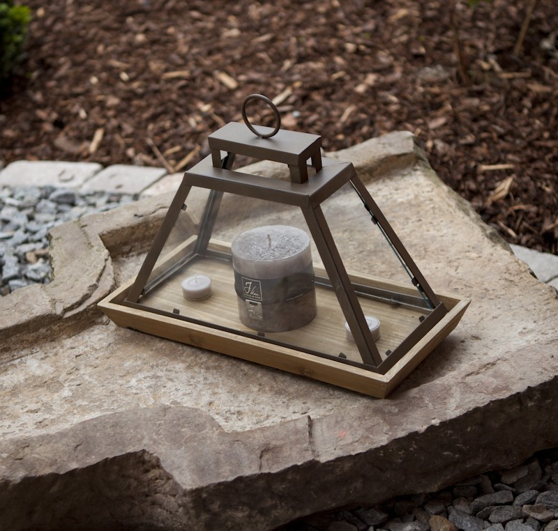 Lanterne cloche en verre photophore lanterne objet - Cloche de jardin en verre ...