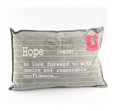 Coussin Hope en tissus gros
