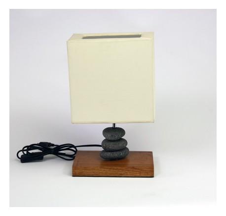 Lampe de Chevet JAVA GREY  - Luminaire - Lecomptoirdesauthentics