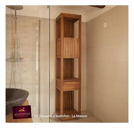 Colonne salle de bain teck KINARA