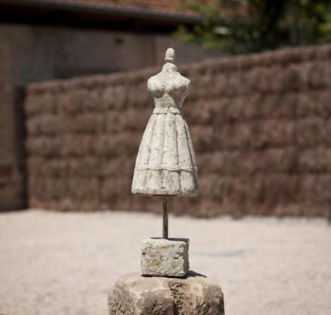 Buste décoratif en ciment