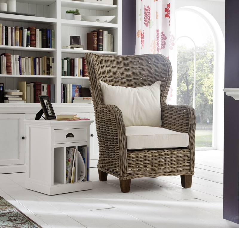 Fauteuil king size en rotin tress collection leirfjord for Meuble en rotin