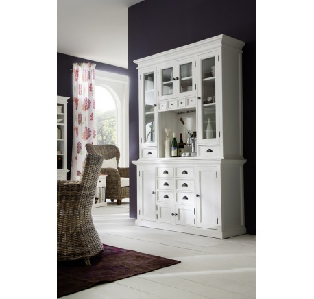 Vaisselier Buffet Bois Blanc Collection LEIFJORD  - Buffet, console, commode - Meubles bois - Lecomptoirdesauthentics