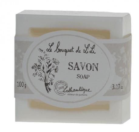 Savon carré LOTHANTIQUE Fleurs Blanches -  Le bouquet de Lili - Bougie, senteur, bien-être - Lecomptoirdesauthentics