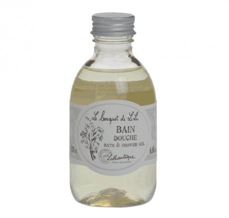 Gel Douche ou Bain LOTHANTIQUE Fleurs Blanches -  Le bouquet de Lili - Bougie, senteur, bien-être - Lecomptoirdesauthentics