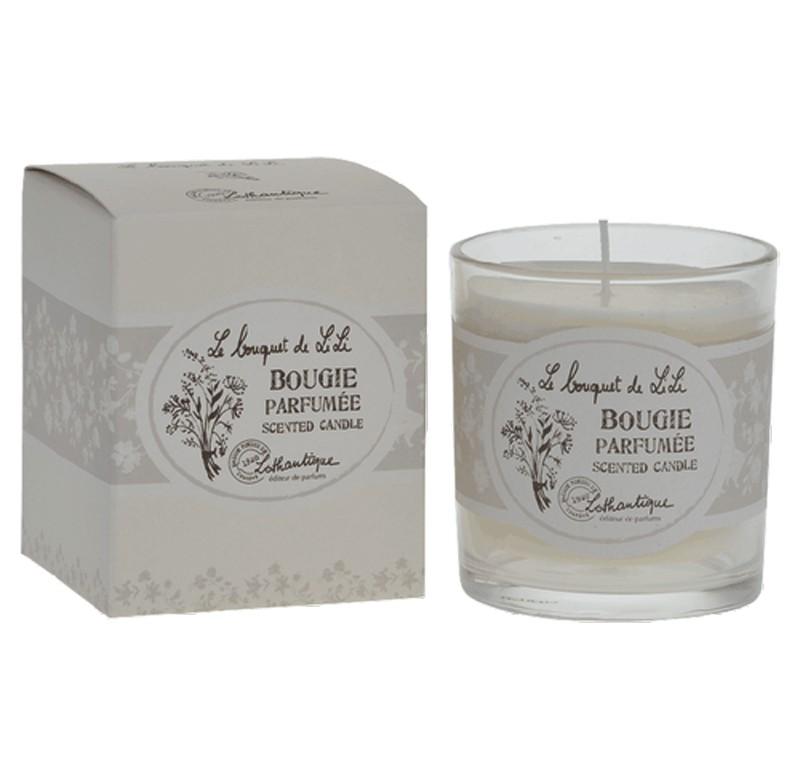 bougie fleurs blanches lothantique le bouquet de lili. Black Bedroom Furniture Sets. Home Design Ideas