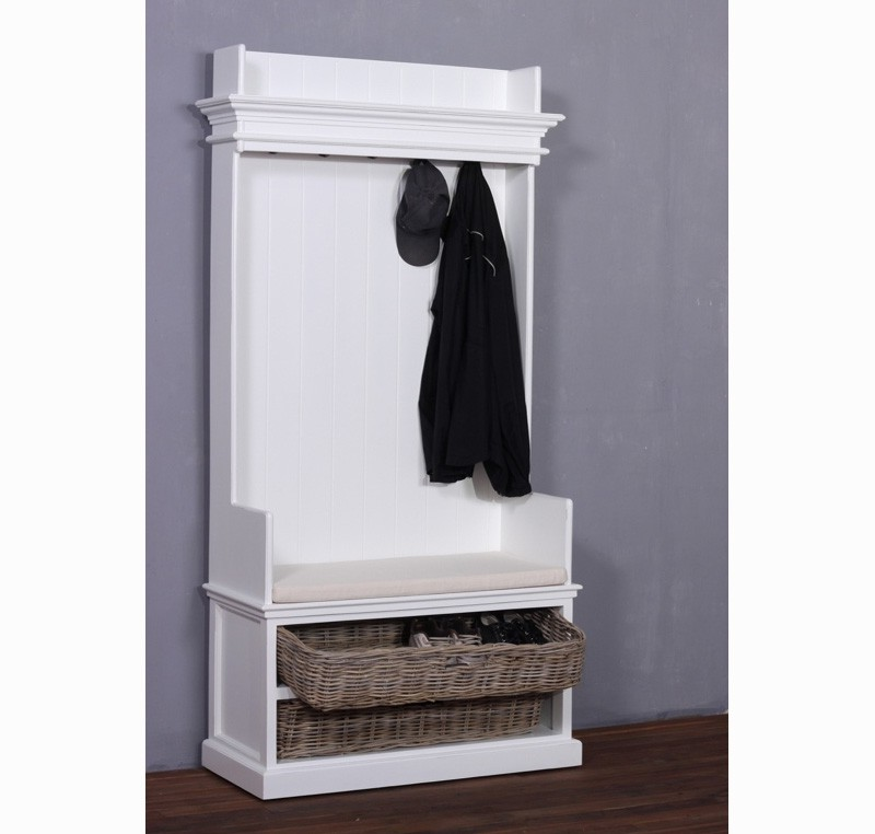 armoire penderie ouverte bois blanc collection leirfjord. Black Bedroom Furniture Sets. Home Design Ideas