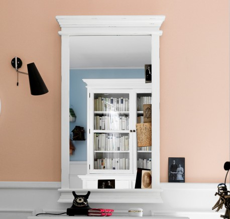 Miroir bois blanc L.70 Collection LEIRFJORD - Meubles blancs - Lecomptoirdesauthentics