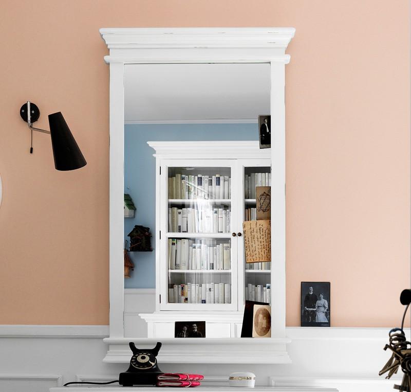 Miroir bois blanc Collection LEIRFJORD Cadre miroir tableau