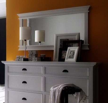 Miroir bois blanc collection leirfjord cadre miroir for Miroir cadre blanc