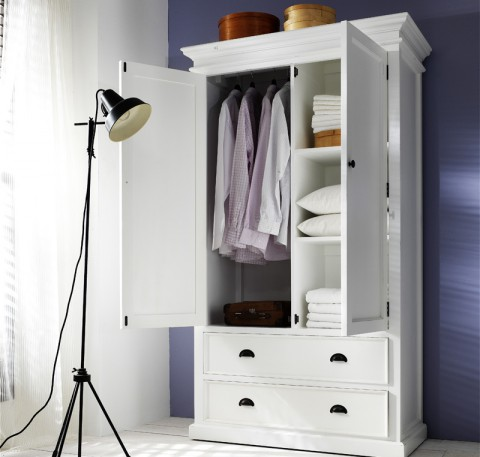 Armoire Bois Massif Blanc Collection LEIRFJORD