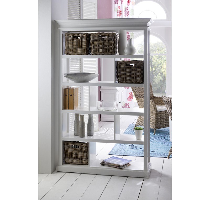Armoire etag res bois blanc collection leirfjord biblioth que tag re me - Bibliotheque etagere bois ...