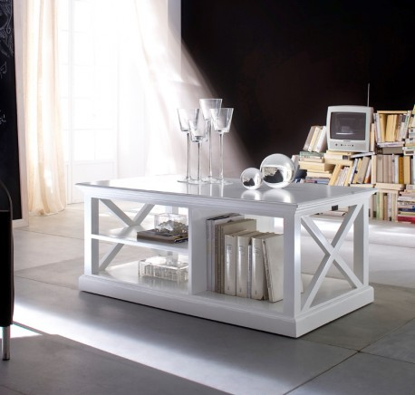 Table basse bois blanc collection leirfjord table basse table meubles bois - Table basse bois et blanc ...