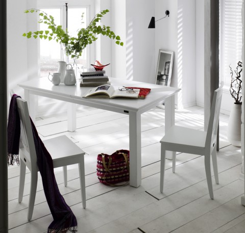 Lot 2 Chaises Bois Blanc Collection LEIRFJORD