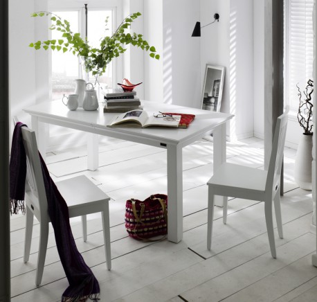 Lot 2 Chaises Bois Blanc Collection LEIRFJORD - Chaises - Lecomptoirdesauthentics