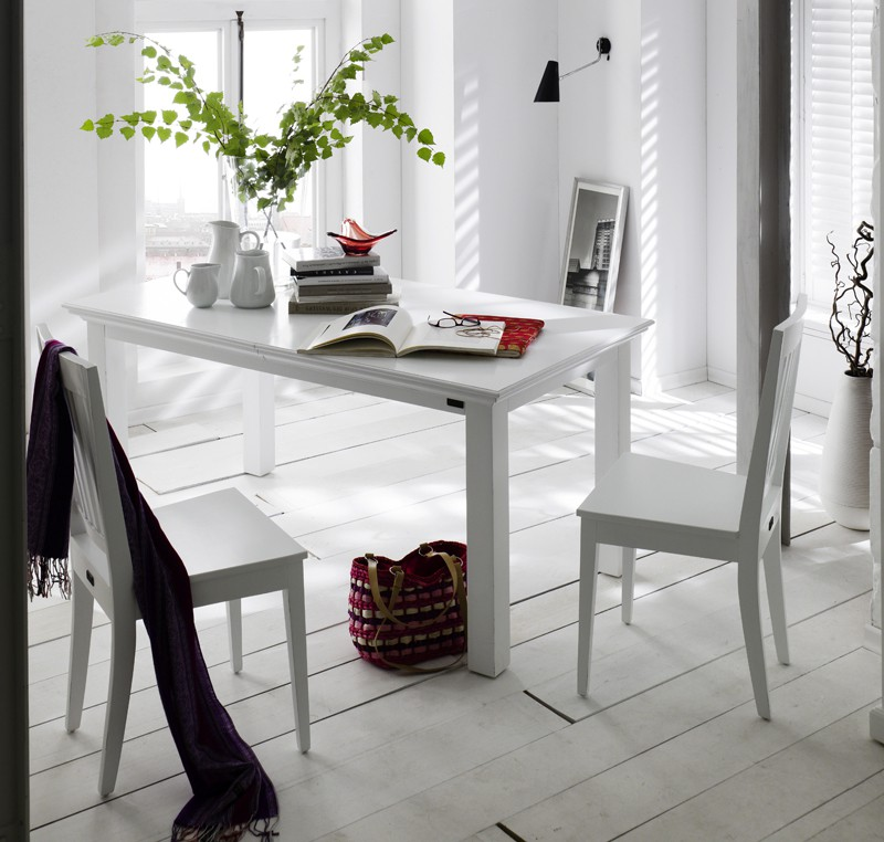 lot 2 chaises bois blanc collection leirfjord chaise chaise tabouret pouf meubles bois. Black Bedroom Furniture Sets. Home Design Ideas