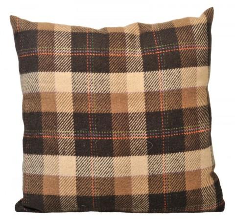 Coussin en laine marron