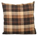 Coussin en laine marron Collection CHALET