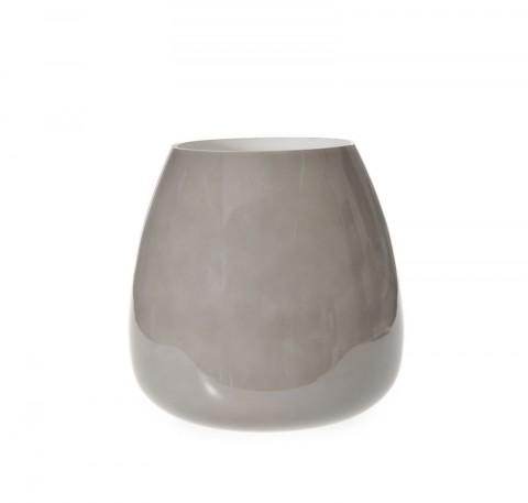 Vase en verre taupe