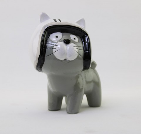 Chat décoratif avec casque