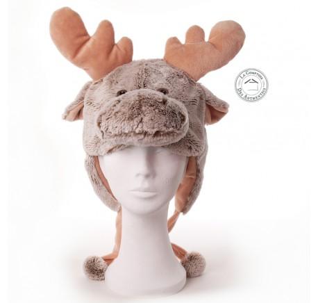 Bonnet en Peluche ELAN brun Taille ADULTE - Peluche, doudou - Lecomptoirdesauthentics