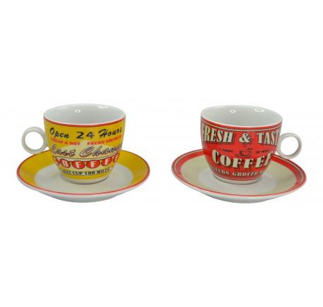 Tasse à café VINTAGE AMERICAN - Vaisselle - Lecomptoirdesauthentics