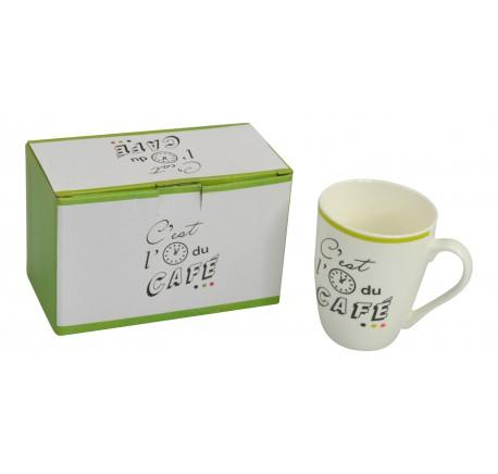 Set 2 Mugs C'EST L'HEURE - Vaisselle - Lecomptoirdesauthentics