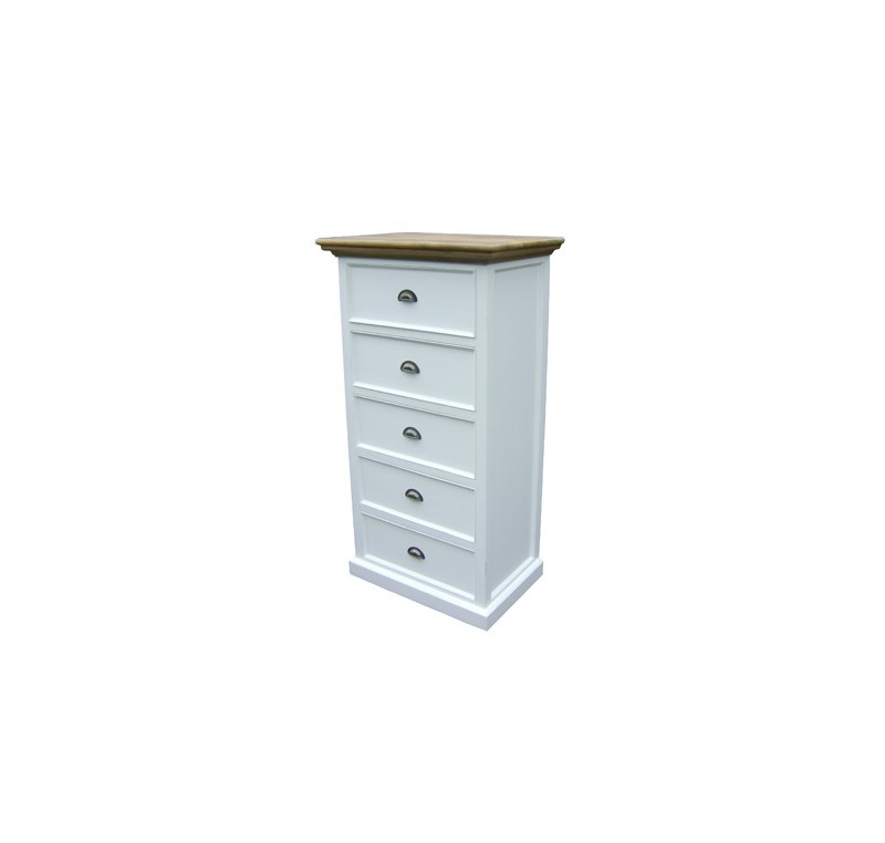 commode bois blanc et teck collection leirfjord lecomptoirdesauthentics. Black Bedroom Furniture Sets. Home Design Ideas