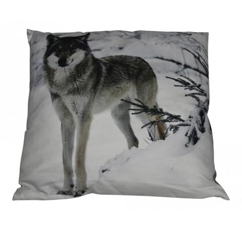 Coussin Loup dans la Neige