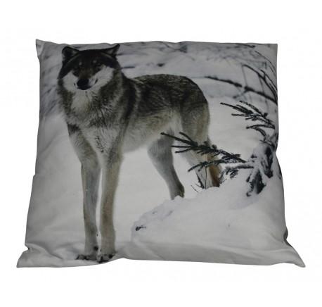 Coussin Loup dans la Neige - Coussins - Lecomptoirdesauthentics