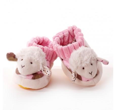 Chaussons Bébé Mouton tout doux - Peluche, doudou - DECORATIONS - Lecomptoirdesauthentics