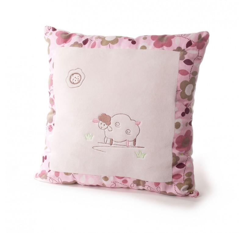 coussin carr b b mouton tout doux coussin linge de maison lecomptoirdesauthentics. Black Bedroom Furniture Sets. Home Design Ideas