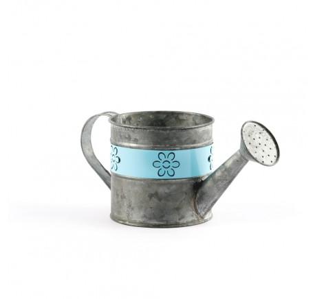 Arrosoir Pot de Fleurs  Vase  Métal Bleu - Vase - Lecomptoirdesauthentics
