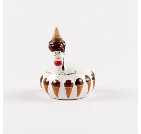 Petite poule J-Line Ice Cream Festival chocolat  - Figurines, statuettes - Lecomptoirdesauthentics