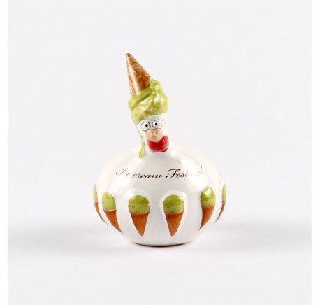 Petite Poule J-Line Ice Cream Festival pistache  - Figurines, Statuettes - Lecomptoirdesauthentics