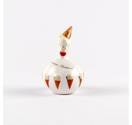 Petite Poule J-Line Ice Cream Festival vanille  - Figurines, statuettes - Lecomptoirdesauthentics