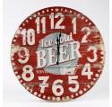 Horloge Ronde Vintage Ice Cold BEER