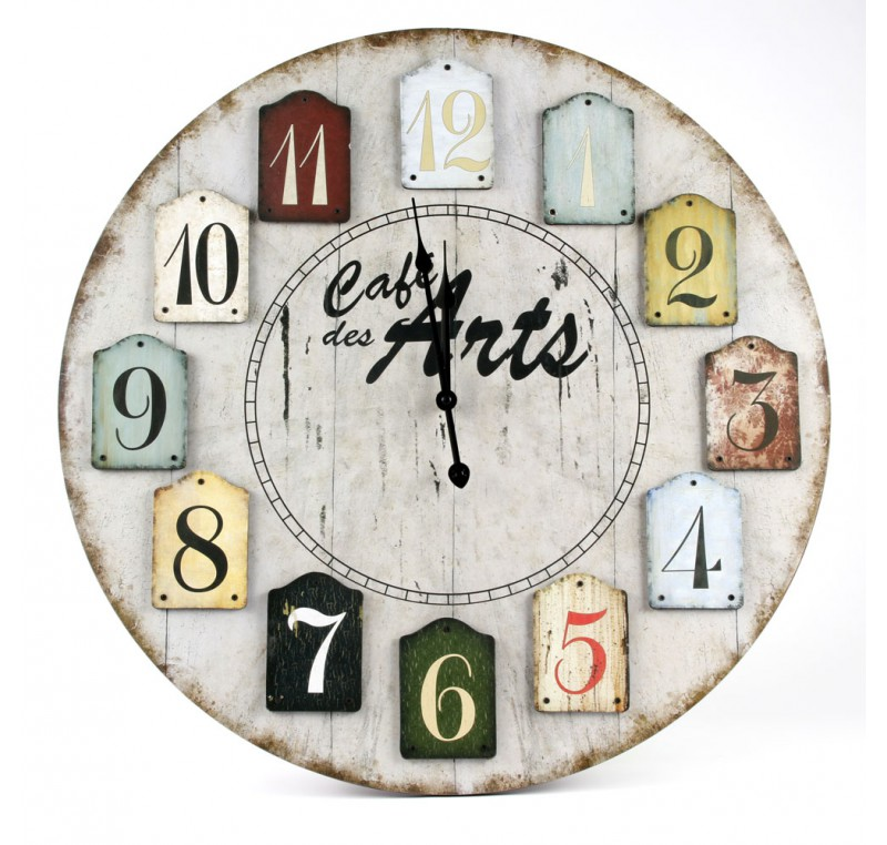 horloge murale vintage cafe des arts d co vintage. Black Bedroom Furniture Sets. Home Design Ideas