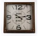 Horloge Murale Vintage BRASSERIE DES HALLES Métal
