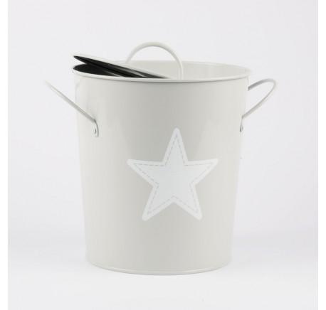 Seau à Glace ou Mini Composteur Cuisine ETOILE Gris - Contenant/ bocal - Lecomptoirdesauthentics