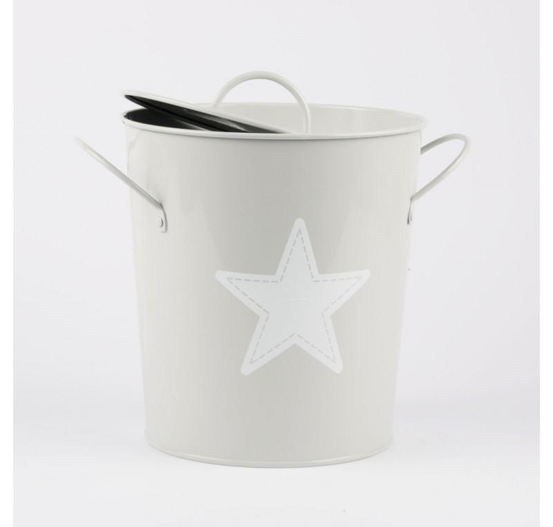 Seau A Glace Ou Mini Composteur Cuisine Etoile Gris
