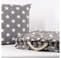 Coussin Assise Petite ETOILE - Little Stars Gris