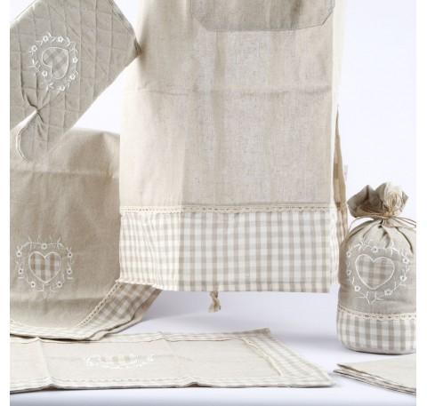 Set de table coeur brode bianka