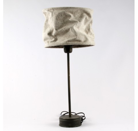 Lampe DAGOBERT grand abat-jour en tissus