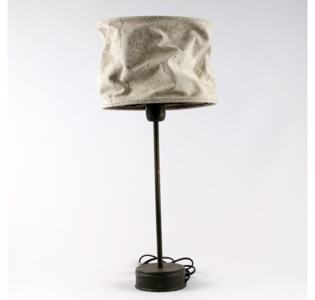 Lampe DAGOBERT grand abat-jour en tissus - Luminaire - Lecomptoirdesauthentics