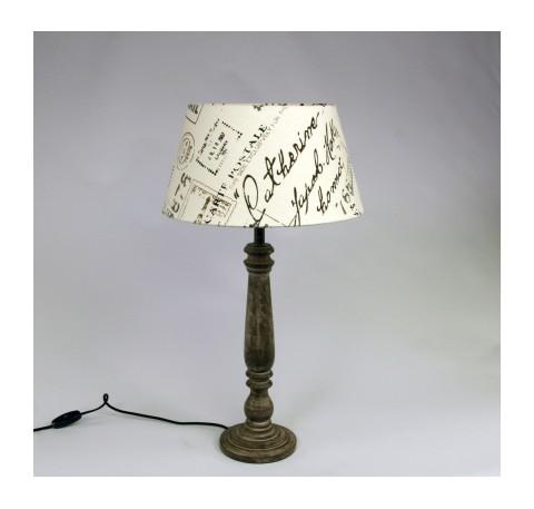Lampe et abat-jour carte postal en