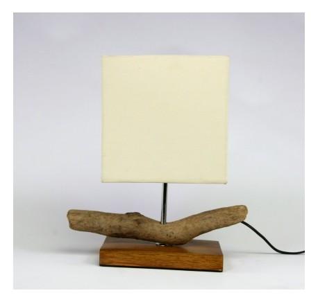LAMPE ANTIC Bois Teck - Luminaire - Lecomptoirdesauthentics